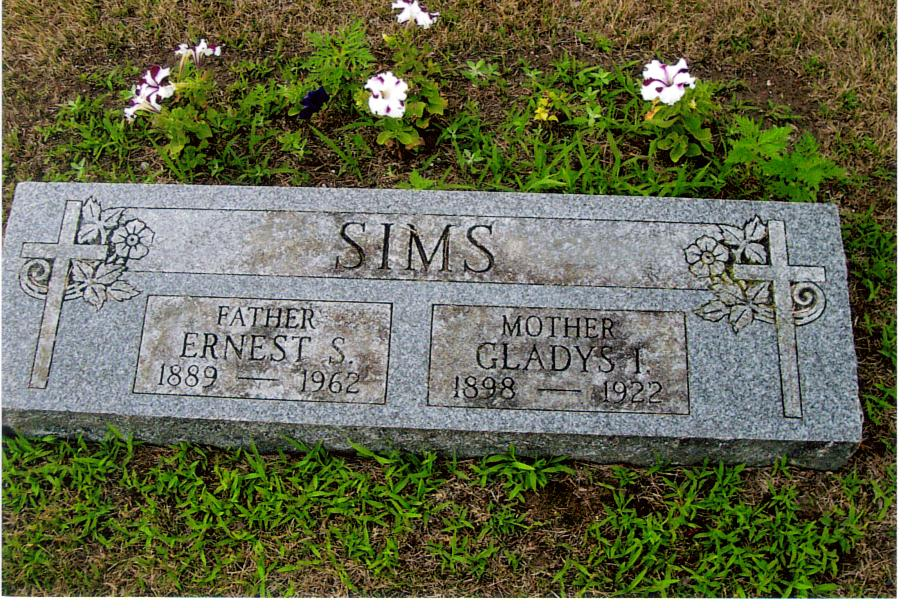 Ernest and Gladys Sims - Birch Run Cemetery