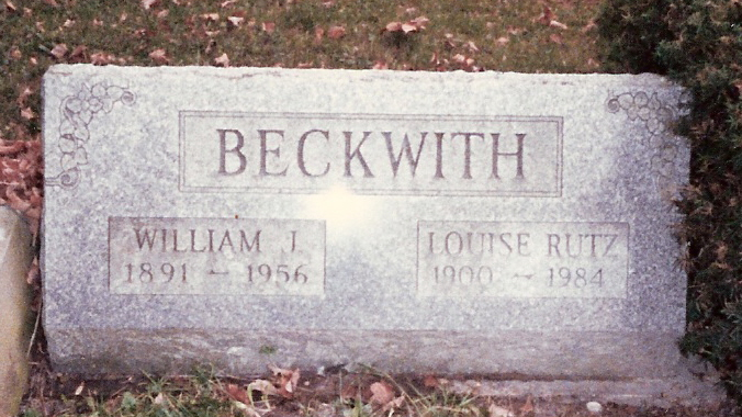 William and Louisa Beckwith, Until the Day Dawn Cemetery