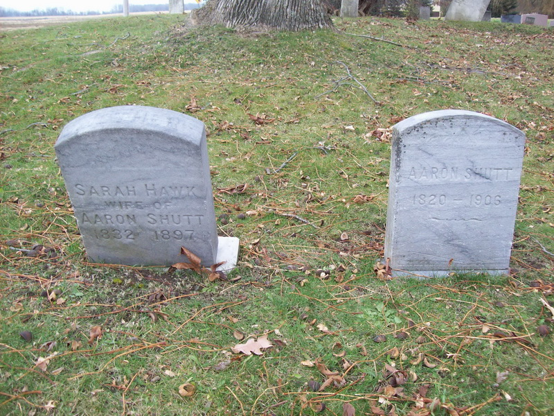 Aaron and Sarah (Hawk) Shutt - Kiehle/Old Dutch Cemetery