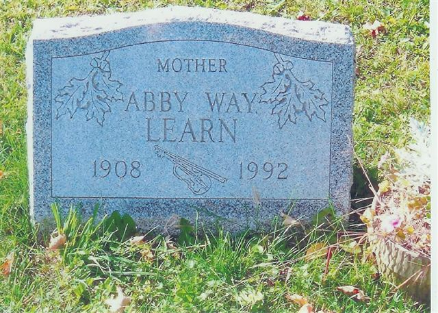 Abby (Burdett) [Way] Learn - Maple Grove Cemetery
