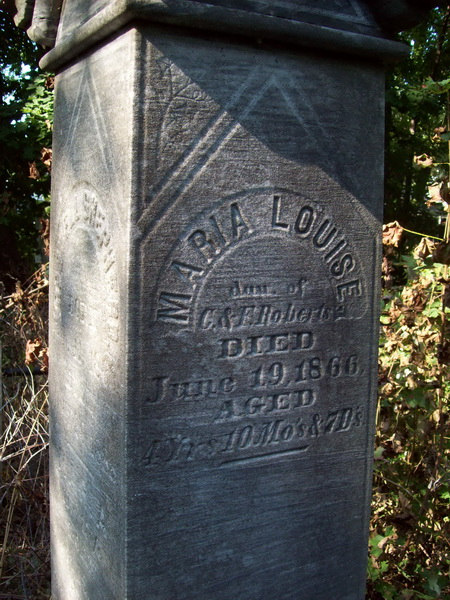 Maria Louise Roberts - Old Reading Center Cemetery
