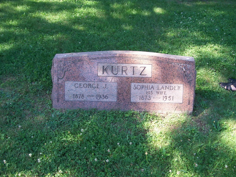 George and Sophia(Lander) Kurtz - Forest Lawn Cemetery
