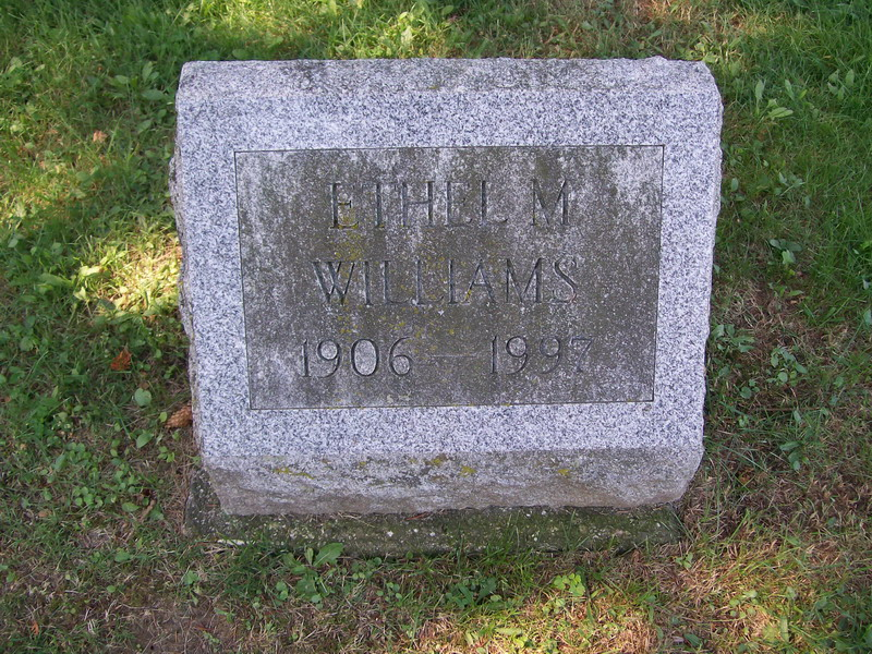 Ethel Williams - Forest Lawn Cemetery