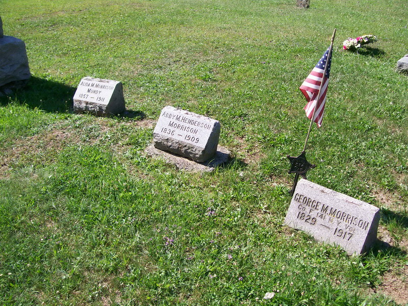 Alida Mundy, Abby Henderson Morrison, and George M. Morrison - Forest Lawn Cemetery