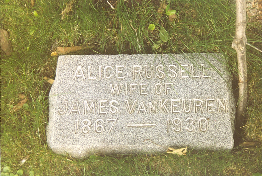 Alice (Russell) VanKeuren - Howard Rural Cemetery