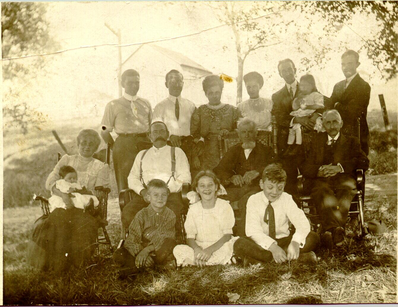 Allen/Beckwith/Lawson/Burdick Reunion about 1912