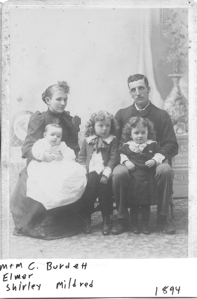 Charles and Mary(Russell) Burdett and Family