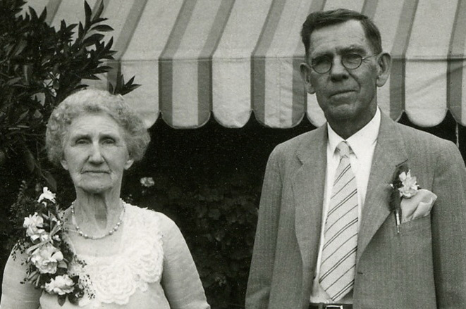 Anna D. (Phares) Burditt and William D. Burditt, 50th Anniversary, 1932